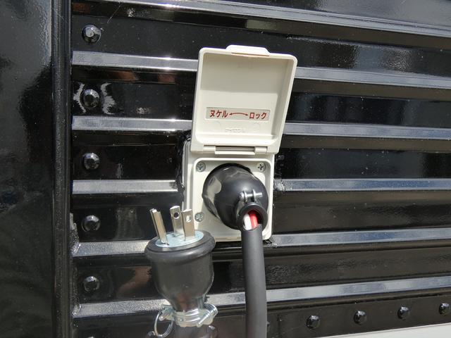 移動販売車 キッチンカー ステンレスシンク コールドテーブル 作業台 冷蔵庫 販売カウンター 跳ね上げ式販売口 4枚サッシ 室内LED照明 換気扇 漏電ブレーカー 外部電源 100Vコンセント(38枚目)