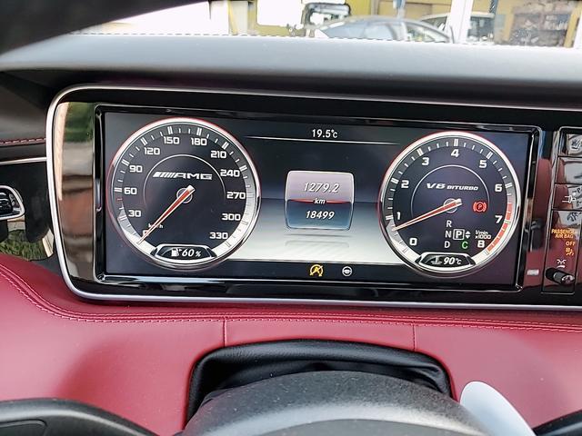 S63 4マチック カブリオレ 赤レザー純正ナビ フルセグ 走行中OK 全方位カメラ LEDヘッドライト 20インチAW(39枚目)