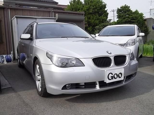 BMW 525iツーリング 黒革シート ナビTV