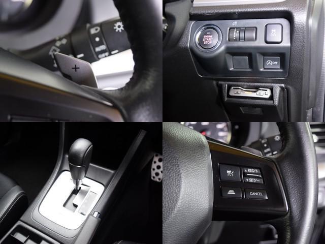 2.0i-Sアイサイト 4WD 1年保証 本州仕入 夏冬タイヤ付 プッシュスタート パドルシフト SDナビ フルセグTV DVD再生 Bluetooth対応 ETC バックカメラ ハーフレザー HID 社外AW(17枚目)