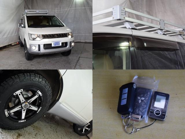 シャモニー 4WD 7人乗 1年保証 夏冬タイヤ 両側パワスラ 後席モニター HDDナビ DVD再生 ETC TV シートヒーター タナベリフトアップサス 純正ルーフキャリア 新品夏タイヤ 社外AW HID(8枚目)