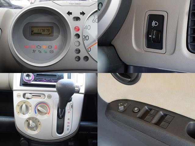 4WD 1年保証 夏冬タイヤ付 社外CDオーディオ ミュージックプレイヤー接続可能 ミラーヒーター ライトレベライザー 純正アルミ(15枚目)