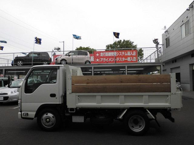 いすゞ エルフトラック 強化フルフラットローダンプ 排雪仕様 3tダンプ