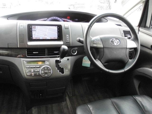 トヨタ エスティマ アエラス レザーパッケージ 4WD 純正HDDナビ フルセグ