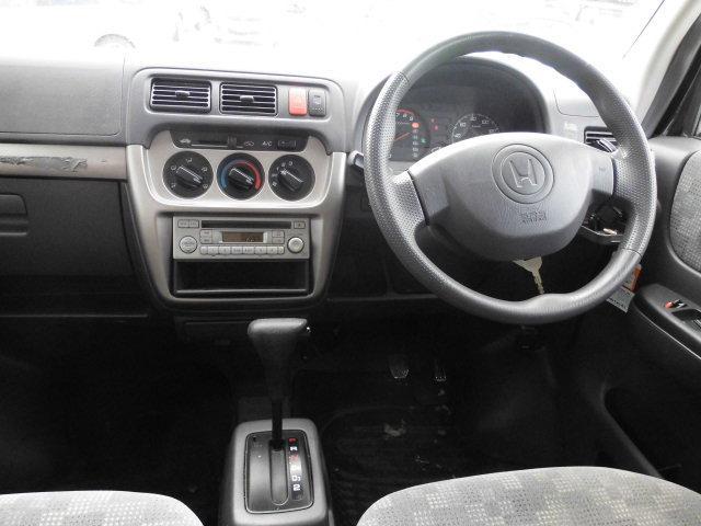 ホンダ バモス Mターボ 4WD キーレス ライトレベライザー CD