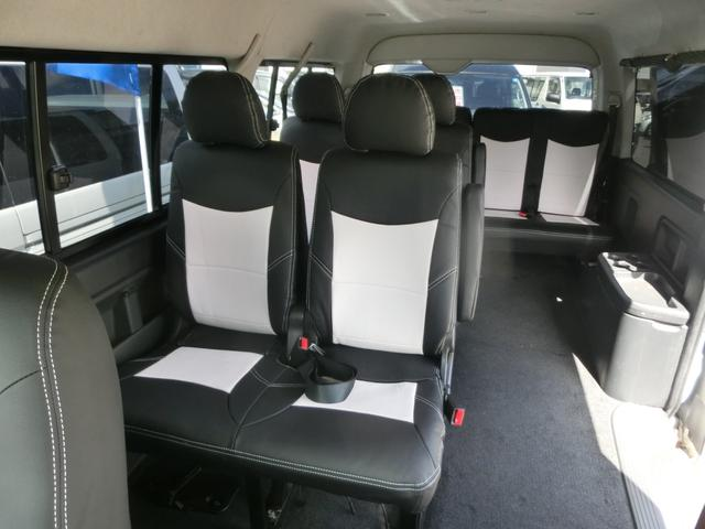 リクライニング加工済みシート!黒/白オリジナルシートカバー!