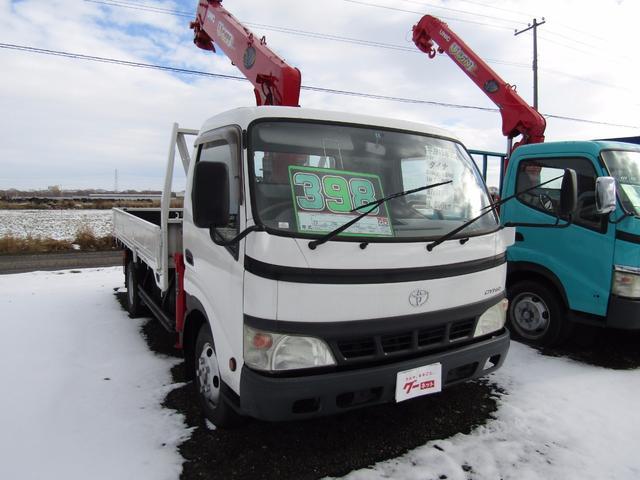 トヨタ ダイナトラック 6段Rフックイン 2t積 リアアウトリガー クレーン付