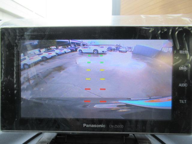 バックカメラ付き。バックで駐車する際にとても便利で駐車が苦手な方に好評です。