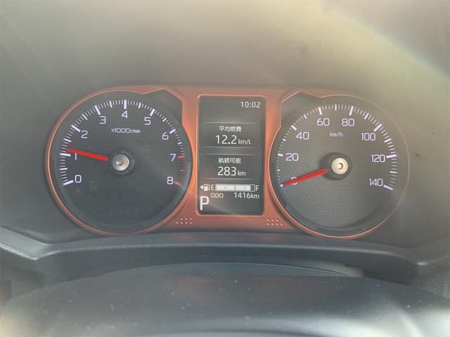 TFTカラーマルチインフォメーションディスプレイ(アイドリングストップ/積算時間 平均燃費 航続可能距離 外気温 コーナーセンサー 半ドア警告 スマアシ作動 故障 メンテ情報 時計モードなど)