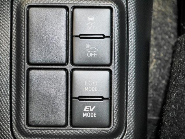VSC(横滑り防止)・TRC(トラクションコントロール)OFFスイッチ、車両接近通報OFFスイッチ、ECOモードスイッチ、EVモードスイッチ