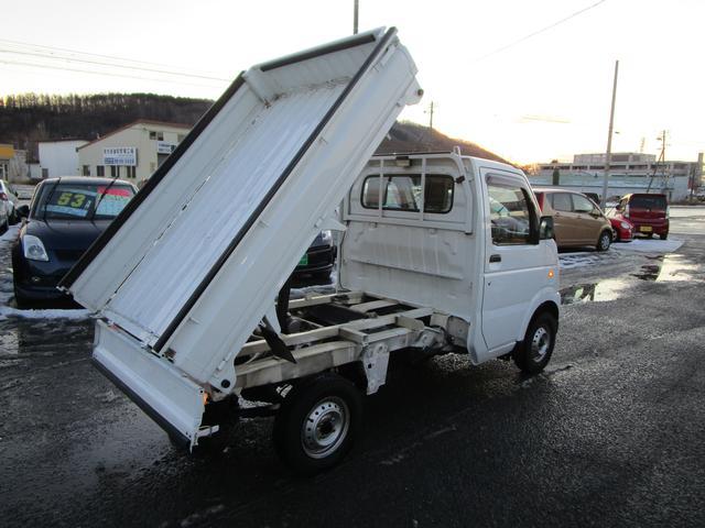 スズキ キャリイトラック ダンプ 4WD MT デフロック パワステ エアコン CD