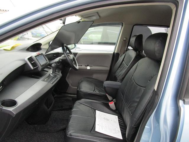 ホールドの良いフロントシート!レザー調ブラックシートカバー付けました。