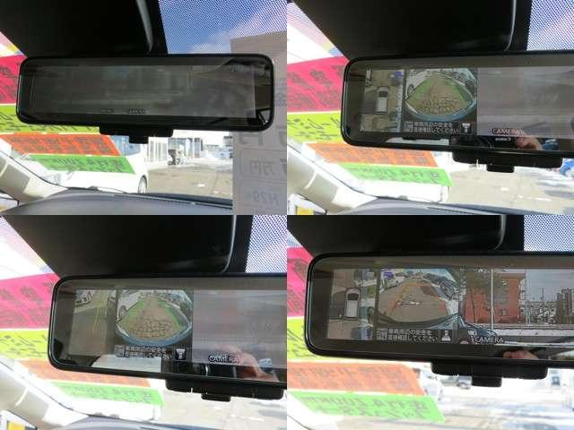 【アラウンドビューモニター】上から見下ろすような視点でスムース駐車をサポートしてくれるアラウンドビューモニター(^v^)はルームミラーに映し出されます♪