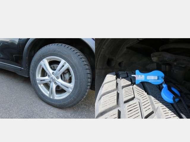 冬タイヤには市販品のアルミホィールが装着されています。