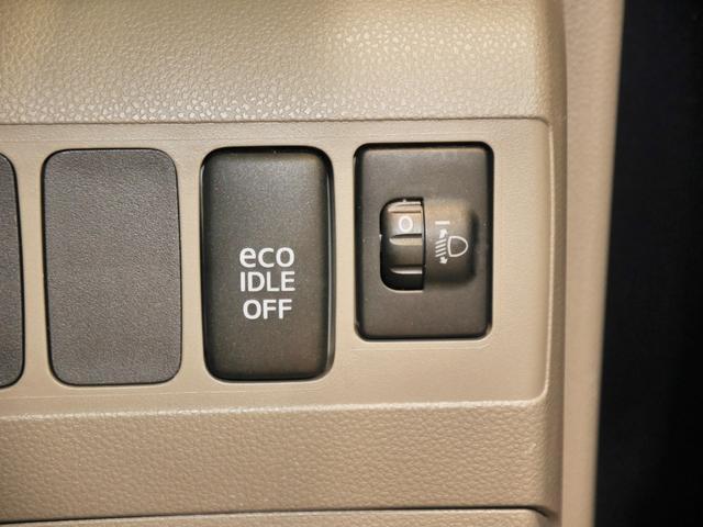 """信号待ちなどで停車すると自動的にエンジンをSTOPさせる""""ecoIDLE"""" OFFスイッチ、ヘッドライト光軸調整"""