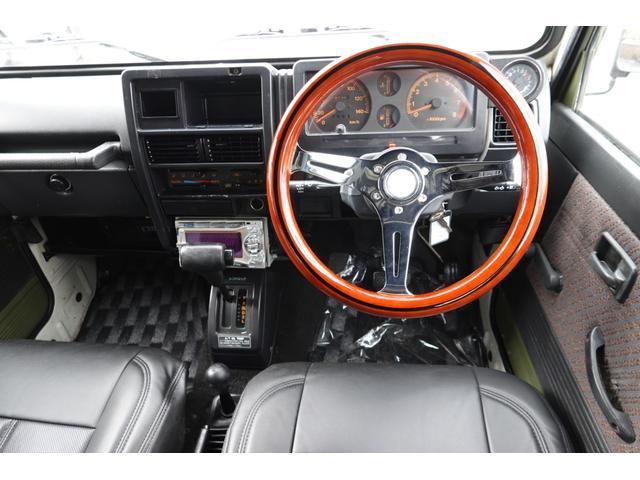 HC RETROSTYLE 全塗装仕上 リフトUP 新品タニグチシャックル 前後新品スチールバンパー 新品ジオランダーマッドタイヤ デイトナスチールホイール 新品レザーシートカバー 新品マフラー 1型グリル(12枚目)