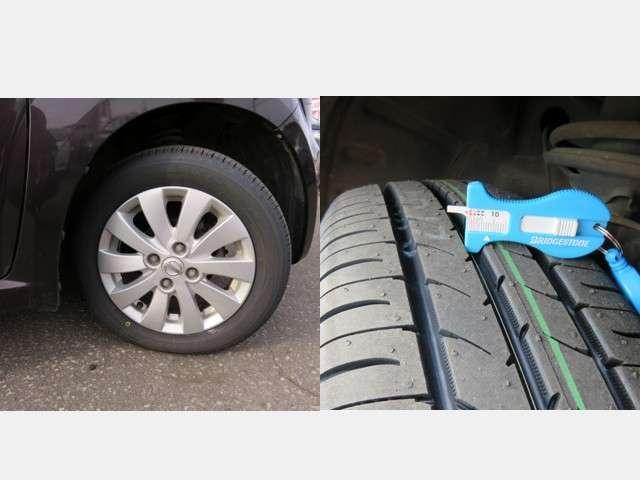 プラスチックバイザー・プライバシーガラスを装備。  夏タイヤには純正アルミ  (タイヤの残り溝は約5ミリです。)
