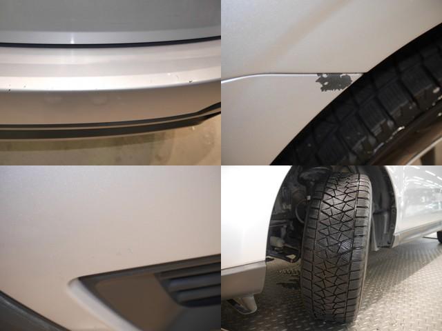 リヤバンパー、傷多数、塗装剥がれ/フロントバンパー、傷/現着タイヤは、スタッドレスタイヤです