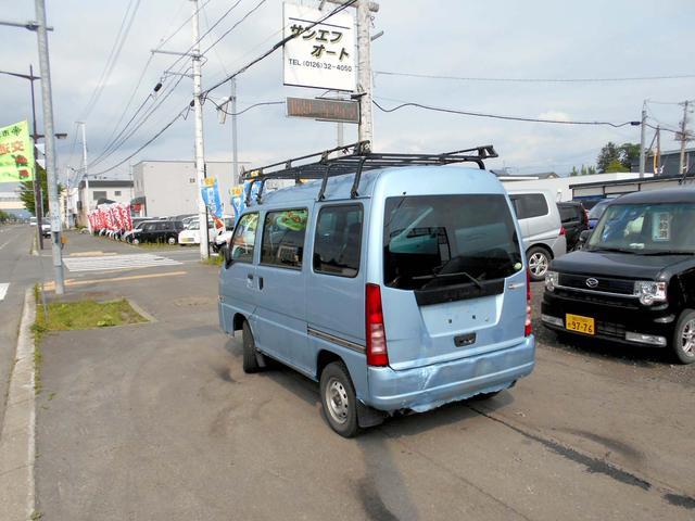 スバル サンバーバン 4WD トランスポーター 両側スライド キャリアー付