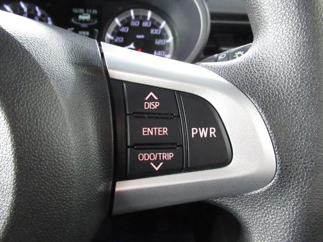 ステアリング右側のスイッチはメーター表示の操作とパワーモードスイッチが搭載されております。