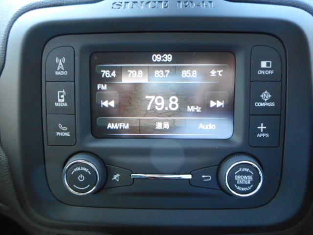 AM/FMラジオ (Uconnect)7インチタッチパネルモニター