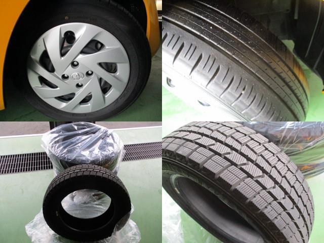【タイヤ】夏タイヤ(溝5mm)スチールホイール、冬タイヤ(溝8mm)。中古タイヤにご不安という方は新品タイヤも各メーカを取扱しておりますのでお気軽にご相談下さい☆