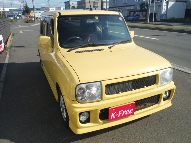 スズキ アルトラパン X 4WD 社外エアロ AW キーレス 夏冬タイヤ付