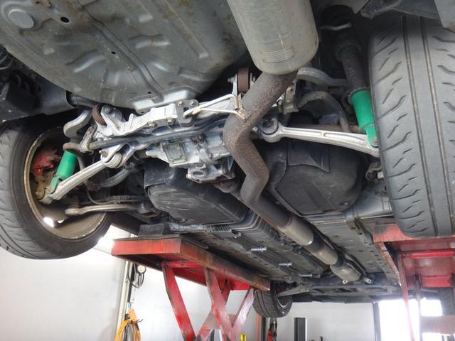 車検・点検整備・事故等の修理などアフターサービス、お車のチューニング・カスタマイズもお任せ下さい!【主な装備品 ; TEIN車高調 OZレーシング17AW フジツボマフラー スポイラー】