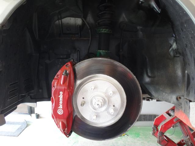 TEIN車高調 ブレンボキャリパー!【主な装備品 ; TEIN車高調 OZレーシング17AW フジツボマフラー スポイラー】