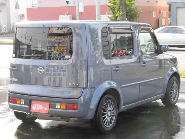 日産 キューブ SX 4WD ユーザー買取車 キーレス 社外アルミ