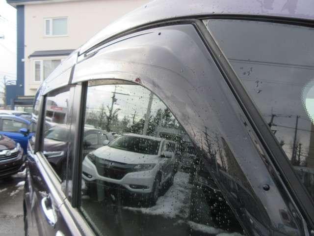 ドアバイザーが付いているので、雨の日でも効率的に空気清浄できます♪