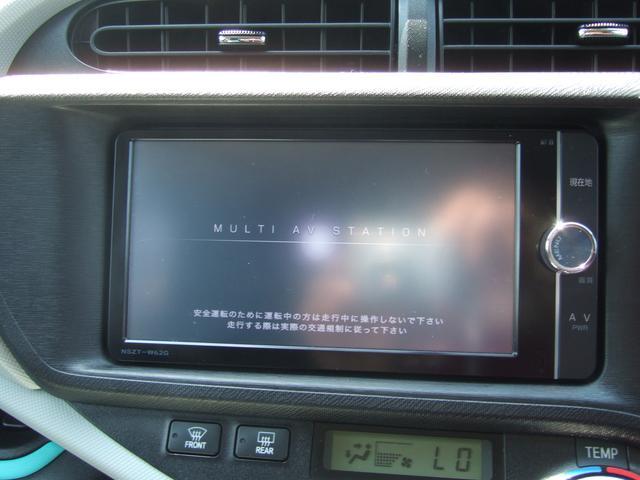 トヨタ アクア S 純正SDナビ TV バックカメラ 純正エンスタ エアロ