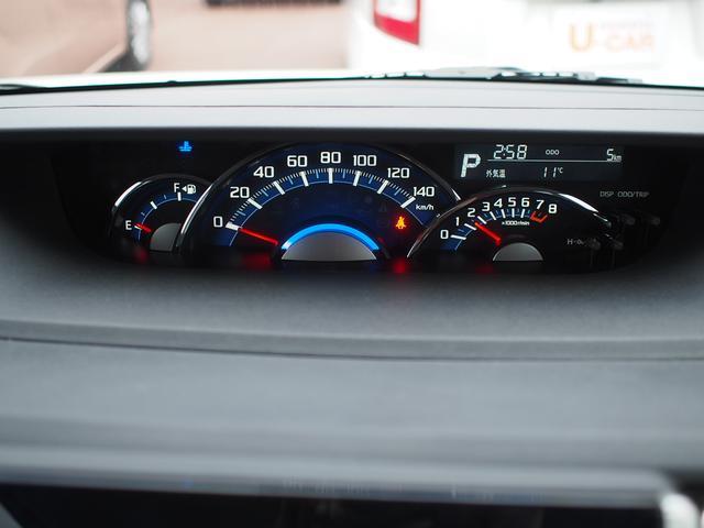 速度計が中央に大きく配置された、見やすいメーターパネルです。
