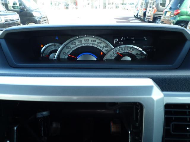速度計が中央に大きく配置されたメーターパネルです。