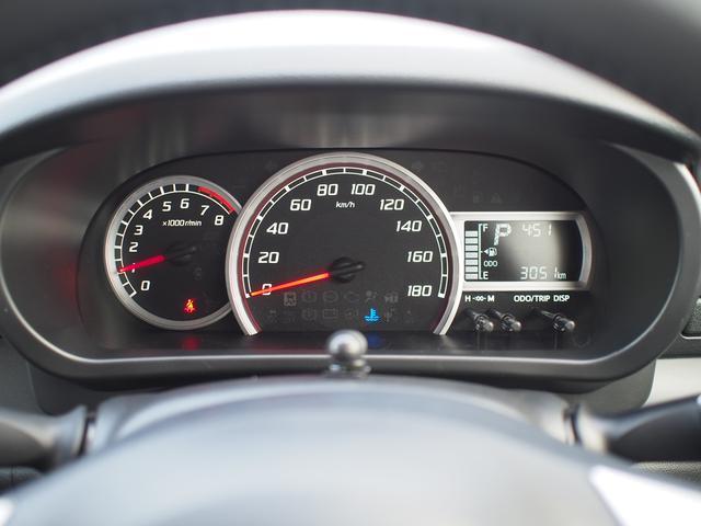速度計が中央に配置された見やすいメーターパネルです。