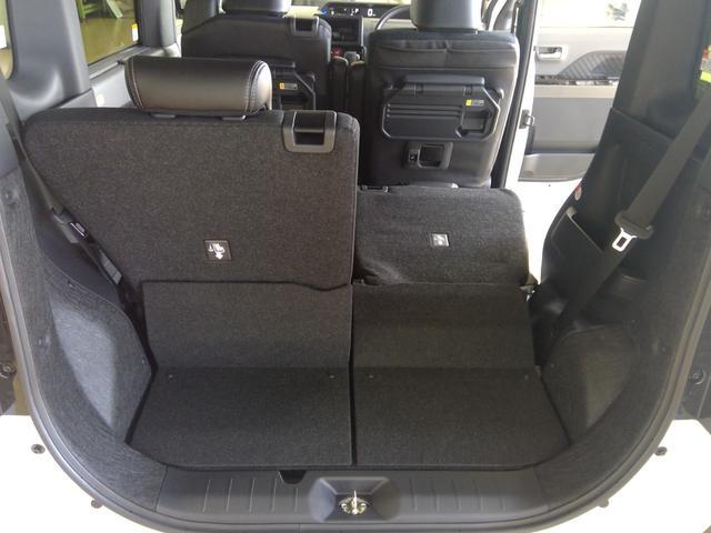 カスタムXセレクション 4WD スマートアシスト 両側パワースライドドア スマートキー LEDヘッドライト LEDフォグランプ オートライト オーディオレス オートエアコン 運転席・助手席シートヒーター 後席テーブル(14枚目)