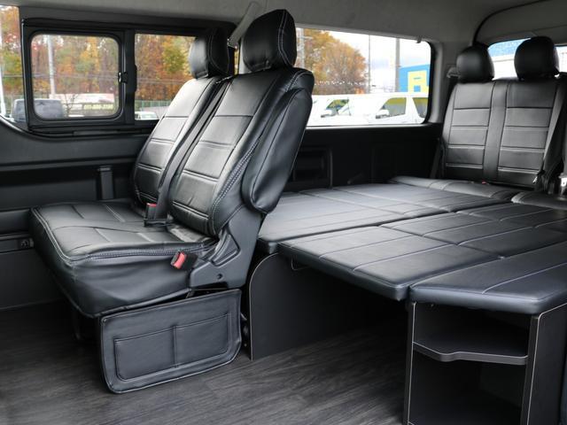 GL 4WD 車中泊 内装架装 収納型ベットパネル R1(8枚目)