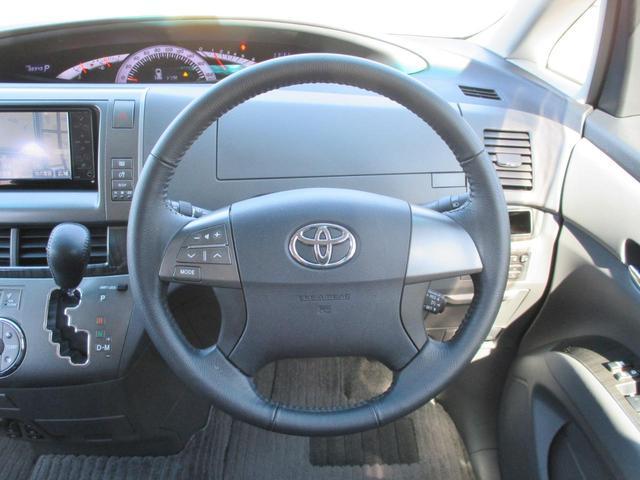 トヨタ エスティマ アエラス レザーパッケージ 4WD 両側パワスラ HDDナビ