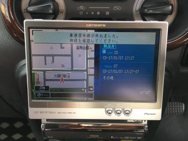 ダイハツ ミラジーノ ジーノ 4WD アルミ 社外HDDナビ ウッドコンビH