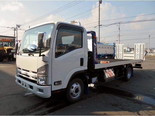 いすゞ エルフトラック セフティローダ SDG-NPS85AN 極東