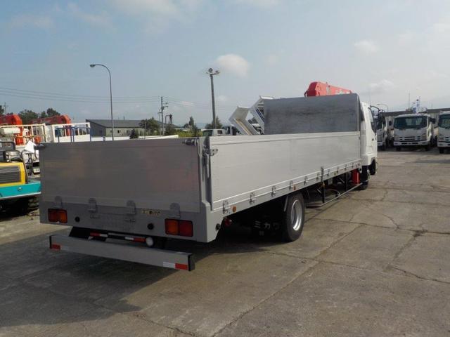 4トン4段クレーンワイドロング アルミアオリ RC・ベッド付(6枚目)