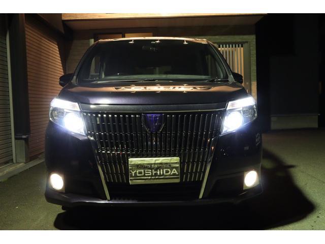 純正LEDヘッドライトです!!明るく・見易く・カッコいいです♪オートライト♪オートレベル!トヨタメーカーオプションの220・スパークリングブラックパールクルスタルシャイン!磨き&コーティング施工車両!