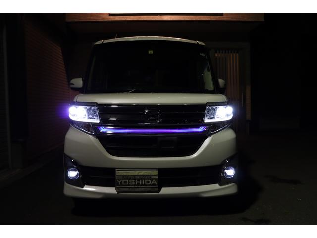 タントカスタムX!上級グレードのトップエディションです!スマアシ2装備!純正LEDヘッドライト!オートレベル!オートライト♪LEDフォグランプ!純正フロントブルーLEDイルミネーション!キマってます♪