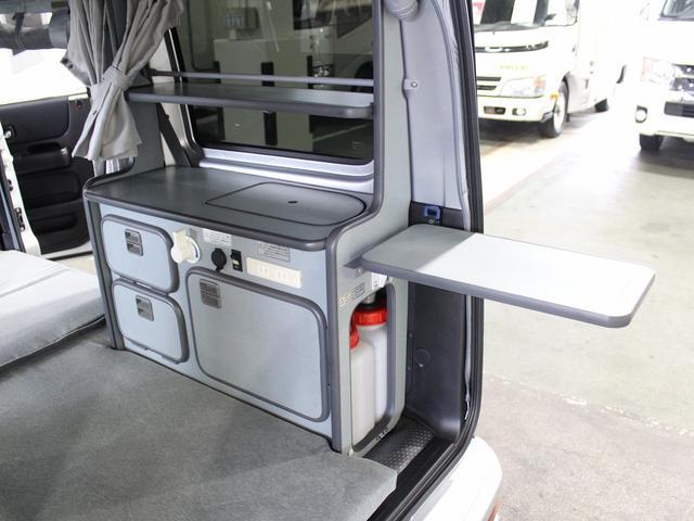 キャンピングカー 軽キャンパー バモスホビオ マイボックス ポップアップ 4WD エバスFFヒーター フィアマサイドオーニング サブバッテリー 走行充電 外部電源 網戸3面 走行用リアヒーター(9枚目)