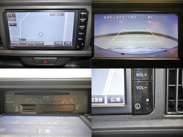 機能的で便利なSDナビ/バックモニター/ナビモニターOPENするとCD挿入口があります/外部メディアプレイヤーが接続できるAUX付いてます