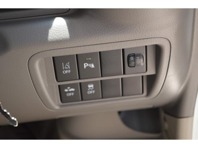 車線逸脱警報、ふらつき警報機能、先行者発信お知らせ機能、などスズキセーフティーサポートが装備です