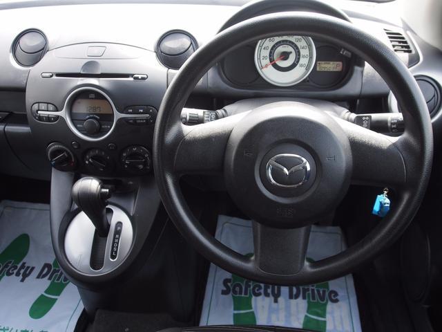 マツダ デミオ 13C 4WD 夏冬タイヤ 一年保証