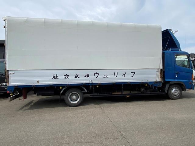 4tワイド 幌ウイング 6.2m荷台長 平ボデー構造変更可能(3枚目)