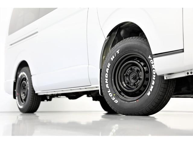 ロングDX GLパッケージ 両側スライドドア・リアヒーター・インナーブラックLEDヘッドライト・フォグランプ白/黄発光LED・ディーラーOPルーフキャリア&リアラダー・フルセグナビ・バックカメラ・荷台防汚カバー/ブラックトリム(6枚目)