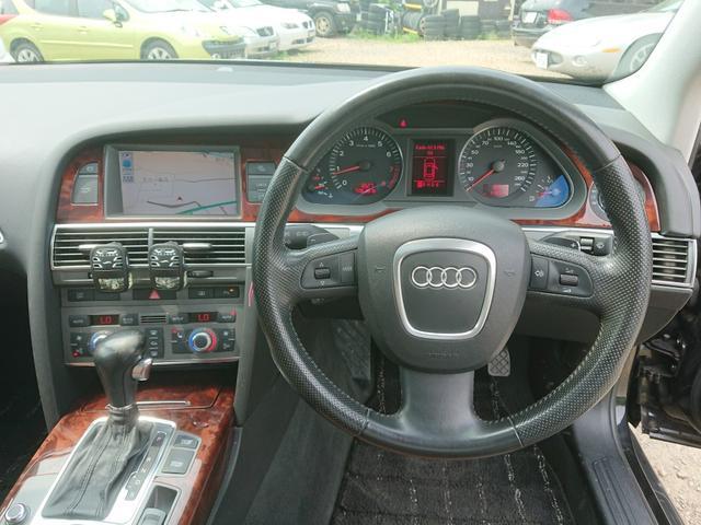 アウディ アウディ A6 4.2クワトロ 4WD 革 パワーシート サンルーフ 保証付